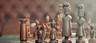 chess pieces on chess board